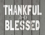 Thankful and BLessed Light Box Insert
