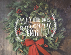 May Your Days be Merry and Bright Jada Venia Light Box Insert