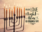 May Love LIght Our Home at Hanukkah Light Box Insert
