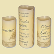 Abiding Light Scented Flameless Candles - Memories