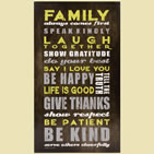 Family Comes First - Christian Wall Art