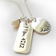 Christian Necklace with Scripture