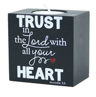 Trust in the Lord Doodle Candle