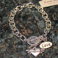Love Charm Forever Heart Toggle Bracelet