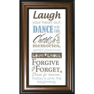 Framed Christian Wall Art - Laugh Your Heart Out