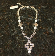 Handcast Silver Cross from Susan Shaw