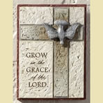 Grow in the Grace of the Lord Wall Plaque