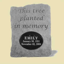 Personalized Tree Memorial Stone