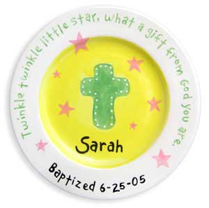 Personalized Birth Plate, Christening Gift