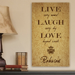 Live Every Moment Personalized Wall Canvas