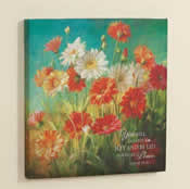 Painted Daisies Christian Canvas Prints