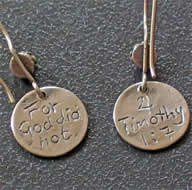 Scripture Christian Earrings - 2 Timothy 1:7