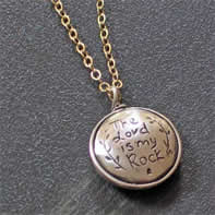 The Lord is my Rock Christian Necklace