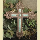 Turquoise Tile Decorative Wall Cross