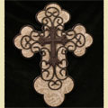Tan and Brown Christian Cross with Iron