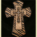 Zebra Design Wall Cross