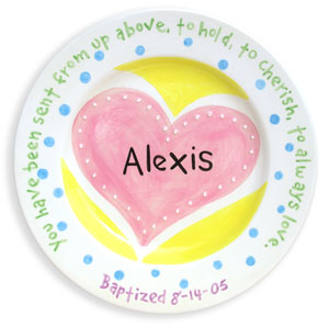 Personalized Christening Plate, birth plate