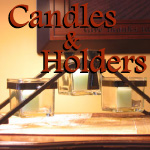 Cross Candle Holders and Candles with Scripture