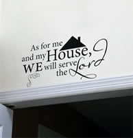 We will serve the lord Vinyl Wall Decal