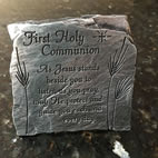 First Communion Slate Desk Plaque