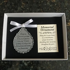 Memorial Tear Drop Ornament
