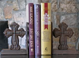 Cast Iron Cross Book Ends