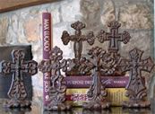 Cast Iron Cross Shelf Sitters and Paper Weights