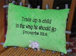 Scripture Pillow for Baby, christian baptism gift