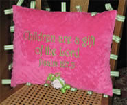 Child Taggy Pillow - Pink