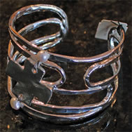 Silver Cuff Bracelet with Cross - Christian Fashion Jewelry