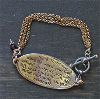 Mark 12:30 Christian Bracelet with Scripture