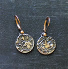 Handcast Sterling Silver Earrings