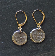 Proverbs 3:5 Christian Scripture Earrings