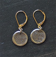 Sterling Silver Scripture Earrings
