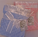 'For this child I have prayed' Minky Baby Blanket