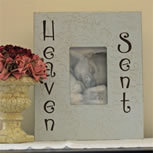Baby Photo Frame - 'Heaven Sent'