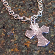 Silver Urban Cross Necklace by Susan Shaw