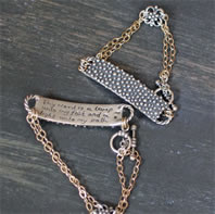Thy word is a lamp Scripture Bracelets from Ashleigh George