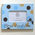 Christian Gift for Baby - Bless this child photo frame