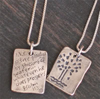 Christian Pendant with Scripture