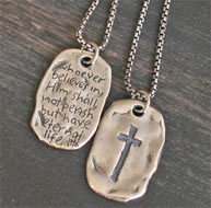 SAVED Dog Tag Christian Jewlery for Men