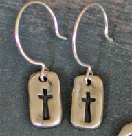 My Savior Cross Earrings
