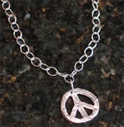 Handcast Silver Peace Necklace by Susan Shaw