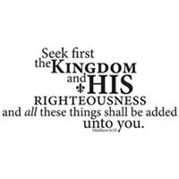Vinyl Wall Praise with Scripture - Seek first his kingdom