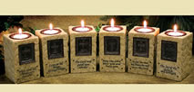 Set of 6 Candles with Scripture