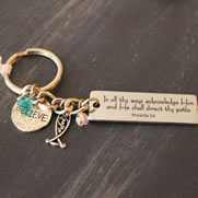 Proverbs 3:5 Key Chain