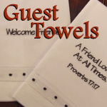 Scripture Embroidered Guest Towels