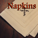 Scripture Embroidered Napkins