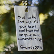 Proverbs 3:5 Christian Dog Tag