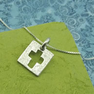 Amazed by Grace Pewter Cross Necklace